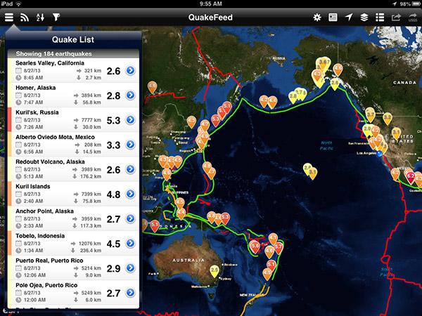 QuakeFeed iPad App v2.3